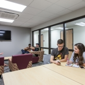 North Hall Study Lounge with Residents