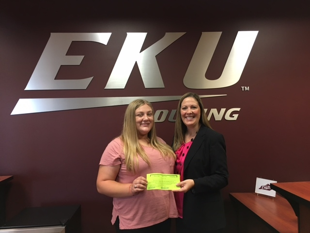 Emily Baldwin, Winner of the Move-In Day Parking Lot Contest